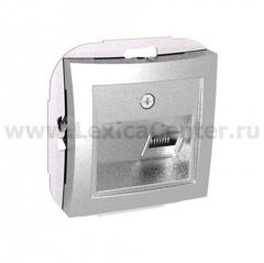 Lexel Дуэт серебро телефонная розетка RJ11, одиночная (SE WDE000381)