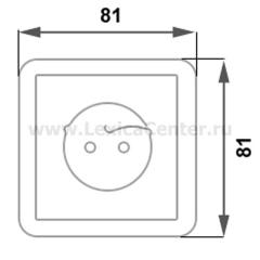 Lexel Этюд 1-ая розетка без заземления, со шторками белый (скр.устан.) (PC16-002b)