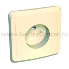 Lexel Этюд 1-ая розетка без заземления, со шторками кремовый (скр.устан.) (PC16-002k)