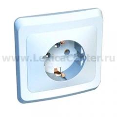 Lexel Этюд 1-ая розетка с заземлением белый (скр.устан.) (PC16-003b)
