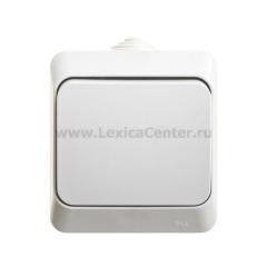 Lexel Этюд Белый Переключатель 1-клавишный IP44