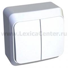 Lexel Этюд Двухклавишный выключатель (СХ. 5) белый (накладные) (BA10-002b)