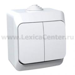 Lexel Этюд Двухклавишный выключатель ( СХ. 5) белый (накладные) (BA10-042b)