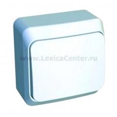 Lexel Этюд Одноклавишный выключатель (СХ. 1) белый (накладные) (BA10-001b)