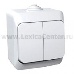 Lexel Этюд Одноклавишный выключатель ( СХ. 1 ) белый (накладные) (BA10-041b)