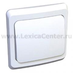 Lexel Этюд Одноклавишный выключатель (СХ. 1) белый (скр.устан.) (BC10-001b)