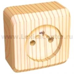 Lexel Этюд розетка без заземления без шторок (накладные) (PA16-001d)