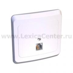 Lexel Этюд розетка телефонная RJ 11 белый (скр.устан.) (TELC-001b)