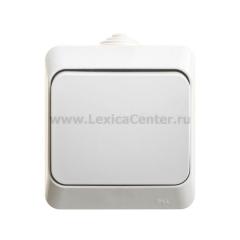 Lexel Этюд Серый Переключатель 1-клавишный IP44
