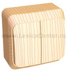 Lexel Этюд выключатель Двухклавишный с подсветкой (накладные) (BA10-006d)