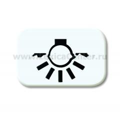 """Линза с символом """"СВЕТ"""" альпийский белый Reflex SI (ABB) [BJE2525 LI-214] 1433-0-0028"""