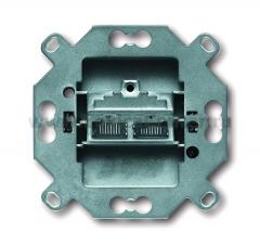 Механизм розетки компьютерной двойной RJ 45 кат. 6е, 500 МГц, [BJE0218] 0230-0-0376