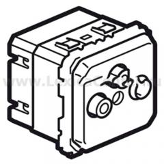 Механизм розетки телевизионной 2-х кабельная TV+FM+SAT 2400 МГц Celiane (Legrand) 67389