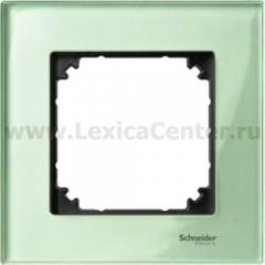 Merten M-Elegance Стекло Зеленое кальцит Рамка 1-я (MTN404104)