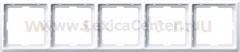 Merten SD Artec Бел Рамка 5-ая (термопласт) (MTN481519)