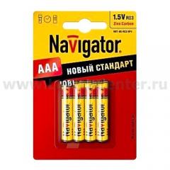 Мизинчиковые батарейки AAA Navigator 94 767 NBT-NS-R03-BP4