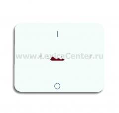 Накладка для 1 телефонной/компьютерной розетки (0213, 0216) белый глянцевый alpha nea (ABB) [BJE1803-24G] 1710-0-2025