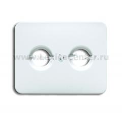 Накладка для антенной розетки TV+FM белый матовый alpha nea (ABB) [BJE1743-24] 1753-0-1589
