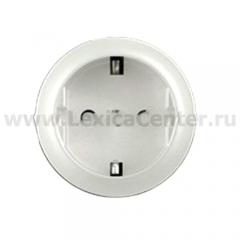 Накладка для розетки 2Р+Е с винтовыми клеммами белый Celiane (Legrand) 68130