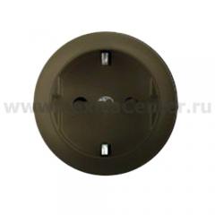 Накладка для розетки 2Р+Е с винтовыми клеммами графит Celiane (Legrand) 64952