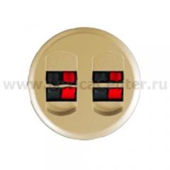Накладка для розетки акустической двойной слоновая кость Celiane (Legrand) 66241