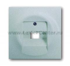 Накладка для розетки телефонной/ компьютерной серебристый металлик impuls (ABB) [BJE1803-783] 1753-0-0087