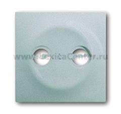 Накладка для розетки телевизионной TV+FM серебристый металлик Impuls (ABB) [BJE1743-783] 1753-0-0040
