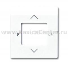 Накладка для терморегулятора с таймером (1098 UF) альпийский белый impuls (ABB) [BJE6435-74] 6430-0-0300
