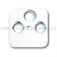 Накладка для ТV+SAT+FM альпийский белый Reflex SI (ABB) [BJE1743-03-214] 1724-0-1754