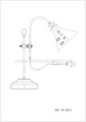 Настольная лампа Globo 6871 Landlife
