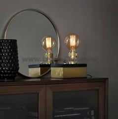 Настольная лампа Markslojd 106618 ETUI Table 1L Brass/Black Marble/Brass
