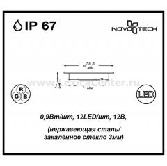 Novotech LED DECK 357143 светильник для бассейна