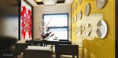 Панель Артполе, 3D стекло, BIG VERTICAL, золото, 600х600мм, 0,36м2, 1шт.