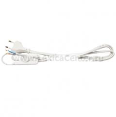 Провод с вилкой и выключателем Navigator 94 667 NPS-FS-170-WH 1,7м