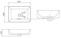 Раковина для ванной CL3153