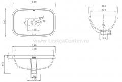 Раковина для ванной CL3212