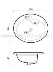 Раковина для ванной OLS-5015