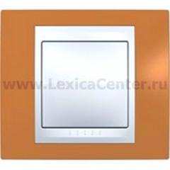Рамка 1-ая MGU6.002.569 Оранжевый/бежевый