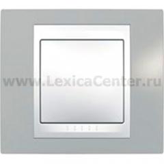 Рамка 1-ая Unica MGU6.002.865 Серый/белый