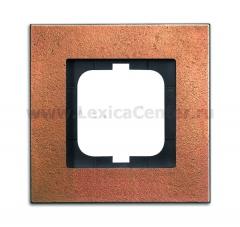 Рамка 1 пост бронза carat (ABB) [BJE1721-821] 1754-0-4258