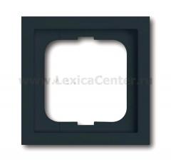 Рамка 1 пост черный future manhattan (ABB) [BJE1721-185] 1754-0-4178