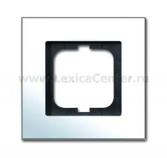 Рамка 1 пост хром carat (ABB) [BJE1721-826] 1754-0-4269