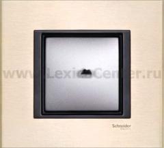 Рамка 1 пост лунный алюминий Unica Class (Schneider Electric) MGU68.002.7A2