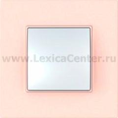 Рамка 1 пост розовый жемчуг Unica Quadro (Schneider Electric) MGU4.702.37