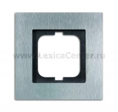 Рамка 1 пост сталь carat (ABB) [BJE1721-860] 1754-0-4254