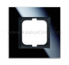 Рамка 1 пост стекло черное carat (ABB) [BJE1721-825] 1754-0-4322