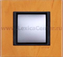 Рамка 1 пост светлая кожа Unica Class (Schneider Electric) MGU68.002.7P1