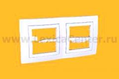 Рамка 2-ая MGU2.004.18 белая