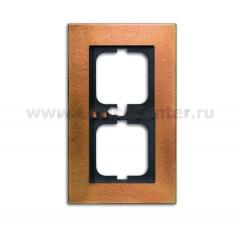 Рамка 2 пост бронза carat (ABB) [BJE1722-821] 1754-0-4259