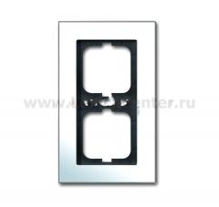 Рамка 2 поста горизонтальная хром carat (ABB) [BJE1722-826] 1754-0-4270